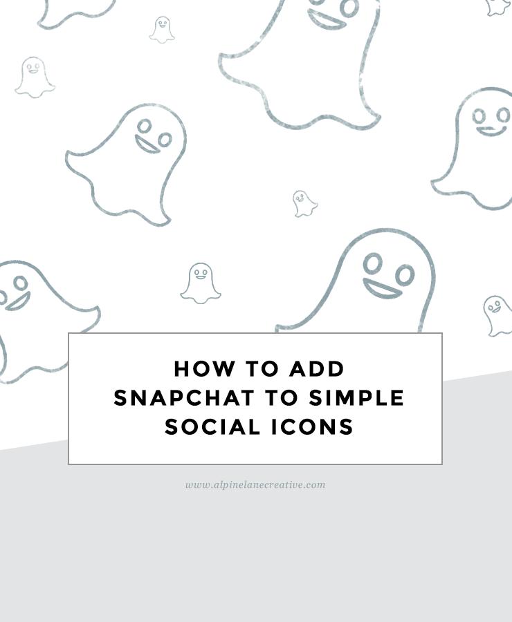 Snapchat Simple Social Icons